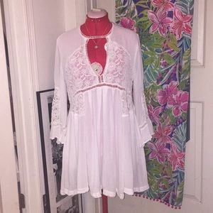 Free People Wildest Dreams Lace Tunic Dress